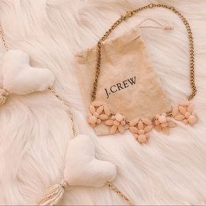j. crew blush and gold statement necklace